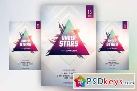 Under Stars - PSD Flyer Template 380504
