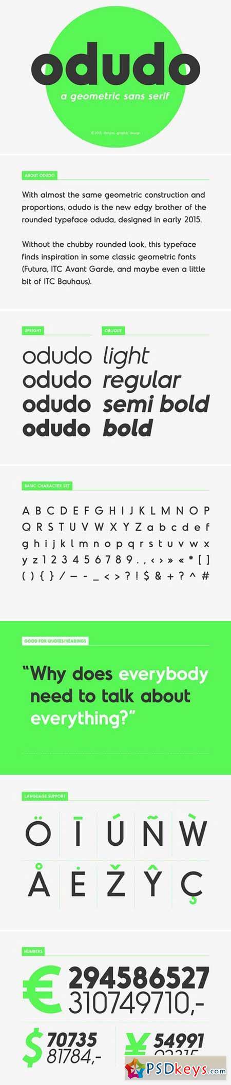 Odudo - Typeface 380024