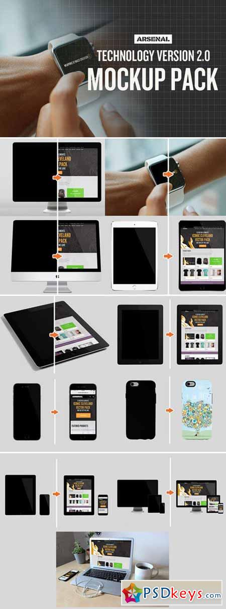 Technology Mockup Templates Pack 379364