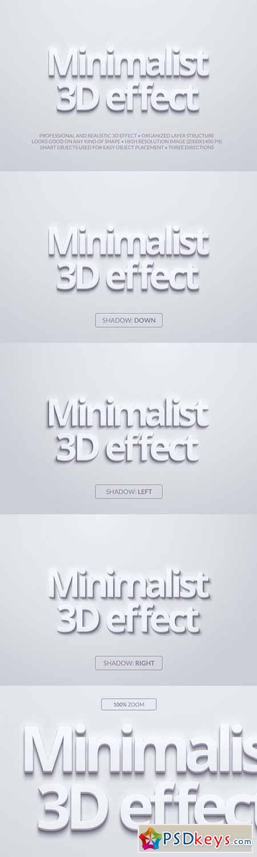 Minimalist 3D Effect 13798