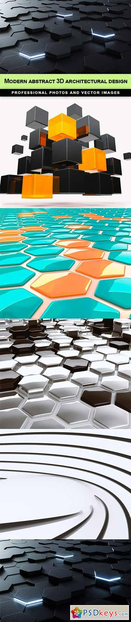 Modern abstract 3D architectural design - 5 UHQ JPEG