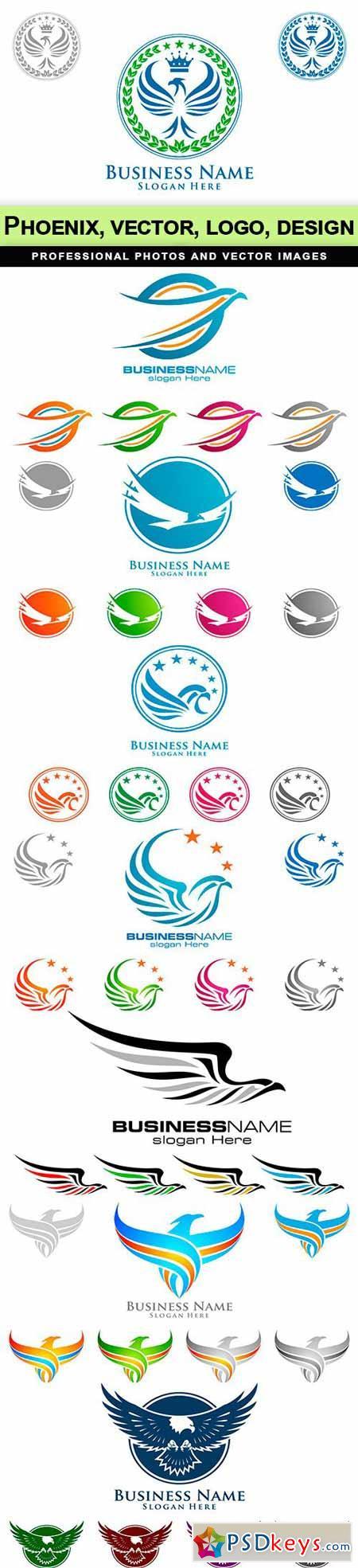 Phoenix, vector, logo, design - 8 EPS