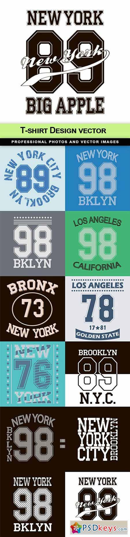 T-shirt Design vector - 12 EPS
