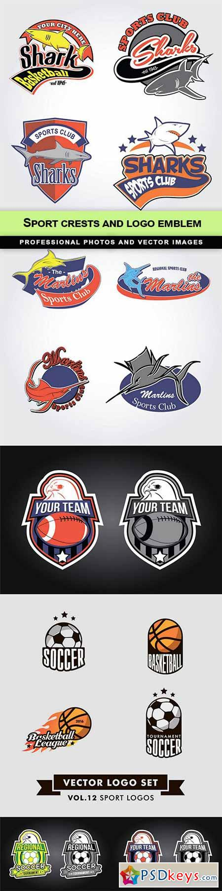 Sport crests and logo emblem - 6 EPS