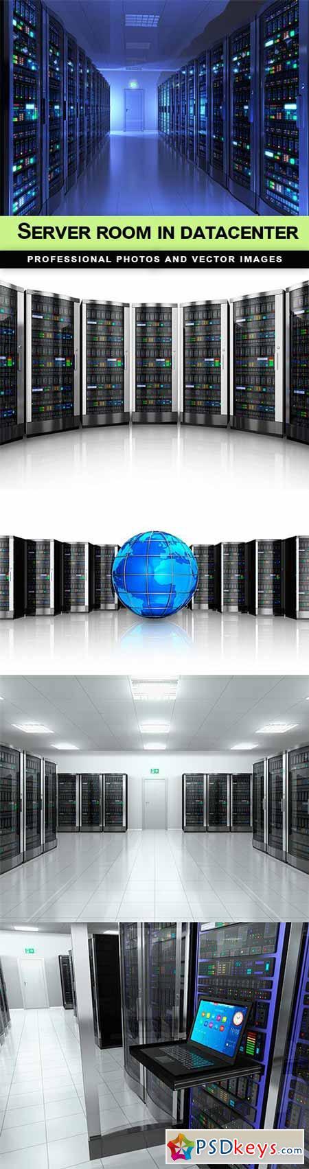 Server room in datacenter - 5 UHQ JPEG