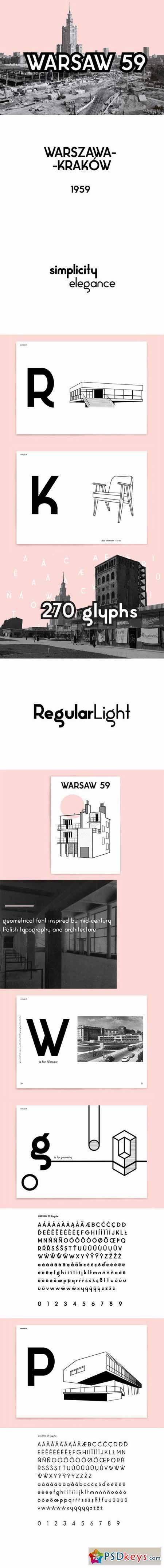 Warsaw 59 font 381237