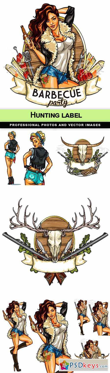 Hunting label - 7 EPS
