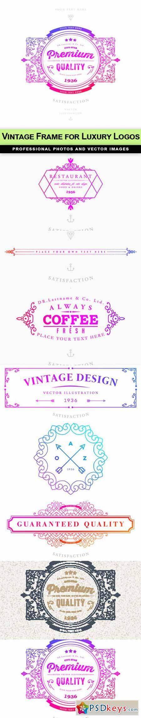 Vintage Frame for Luxury Logos - 8 EPS