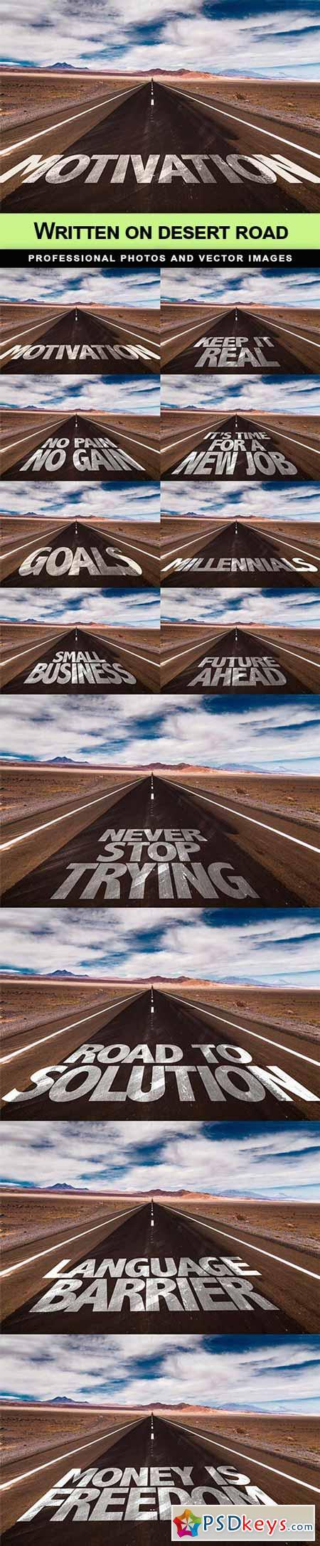 Written on desert road - 12 UHQ JPEG