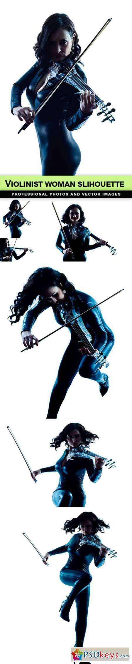 Violinist woman slihouette - 6 UHQ JPEG