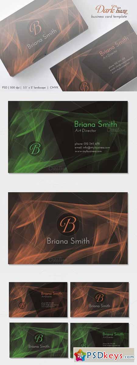 Dark Haze Business Card 369189