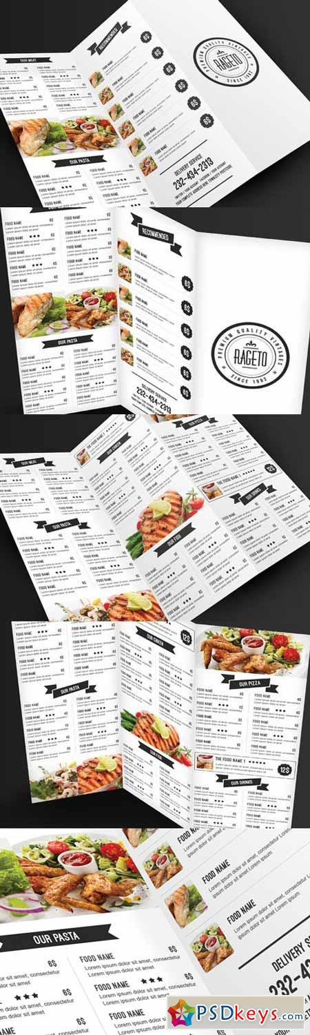 Simple & Clean Food Menu 364380