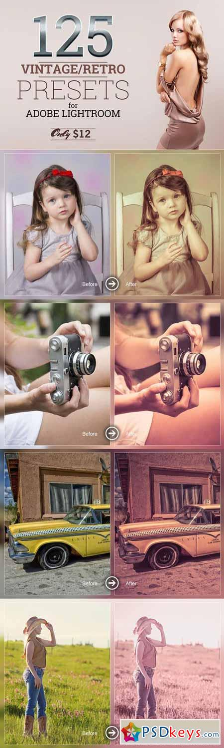 125 Lightroom Vintage Retro Presets 371864