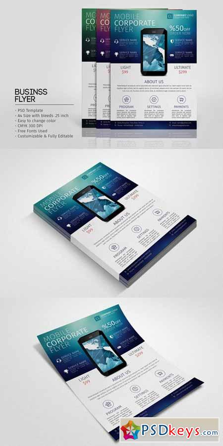 Mobile Promotion Flyer Template 366597