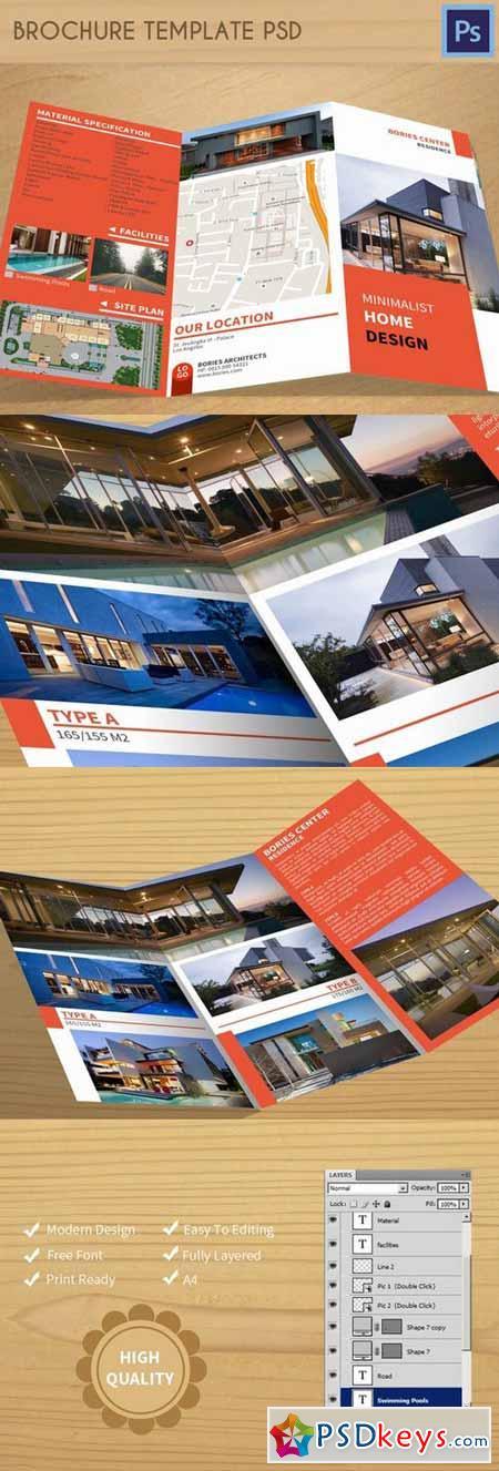 Brochure Template PSD 373407
