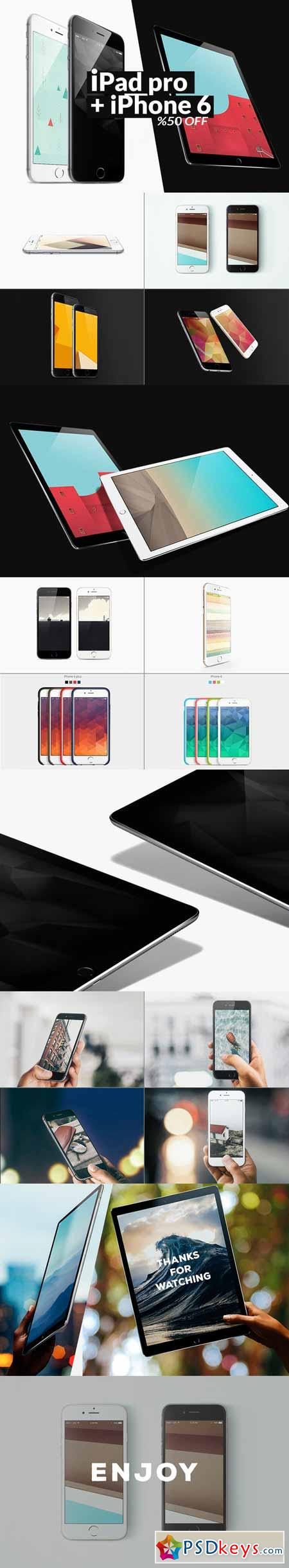 iPad pro+ iPhone 6 Mockups Bundle 381675