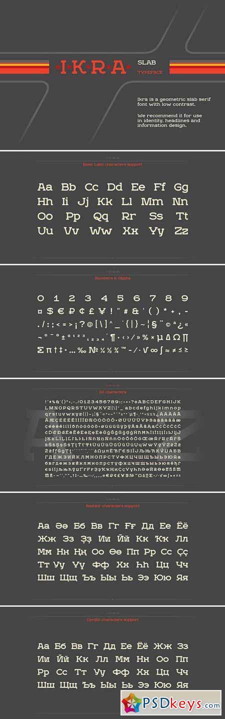 Ikra Slab – Font