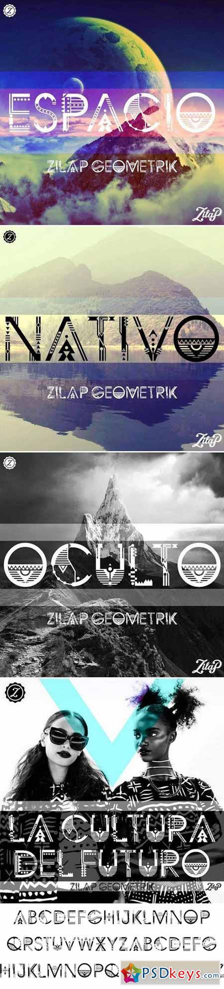 Zilap Geometrik Font