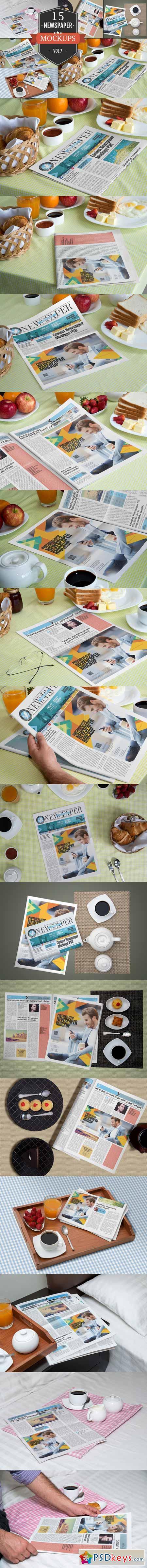 Newspaper Advertising Mockups Vol. 7 369568