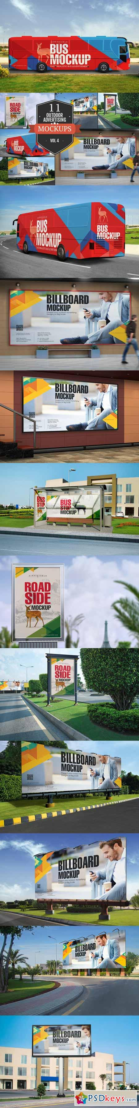 Outdoor Advertising Mockups Vol. 4 372126