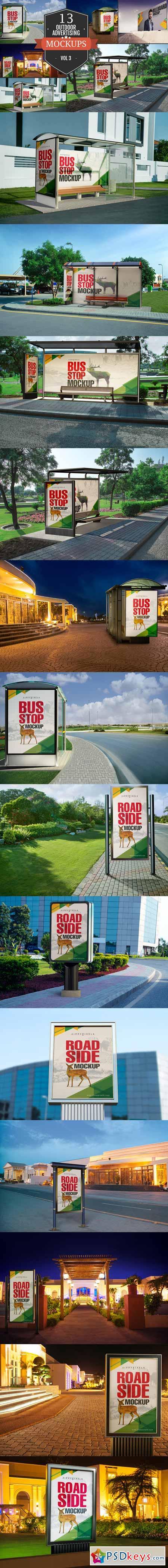 Outdoor Advertising Mockups Vol. 3 371857
