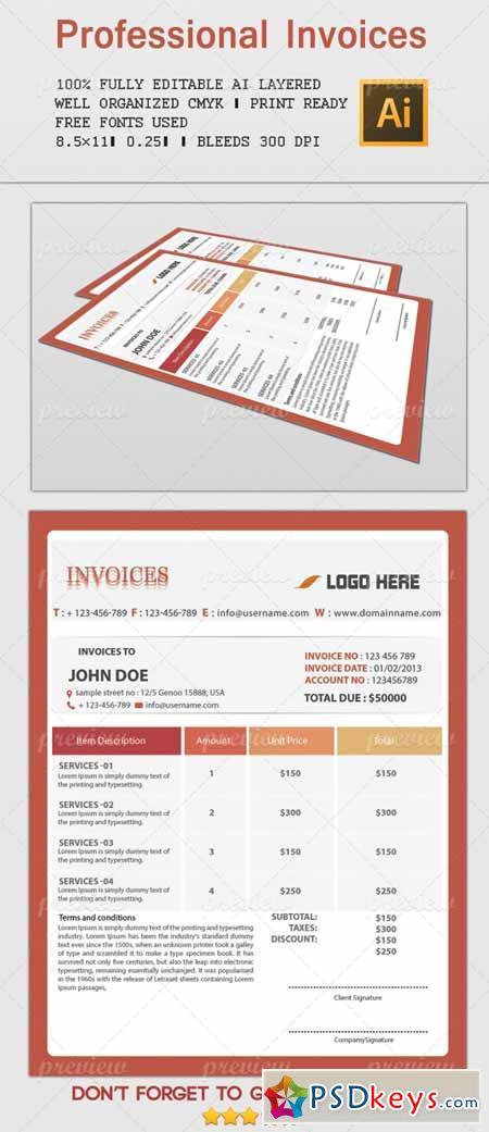 Professional Invoices 2 1809