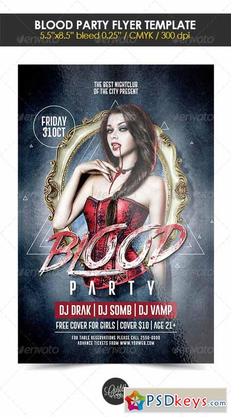 Blood Party Flyer Template 8399412