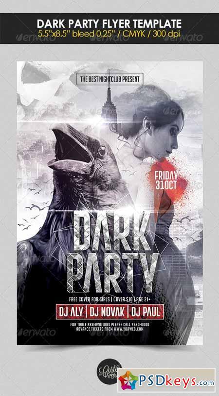 Dark Party Flyer Template 8410851