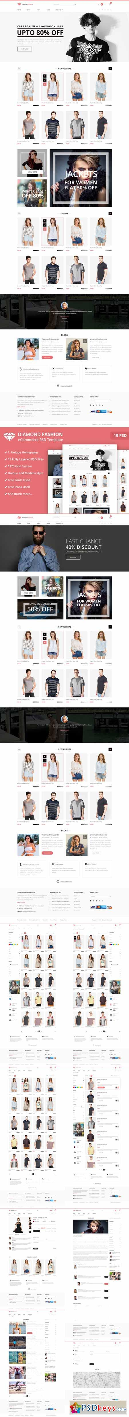 Fashion- eCommerce PSD Template 382395