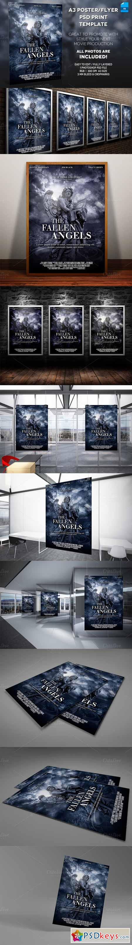A3 - Movie Poster Print Template 2 381841 » Free Download