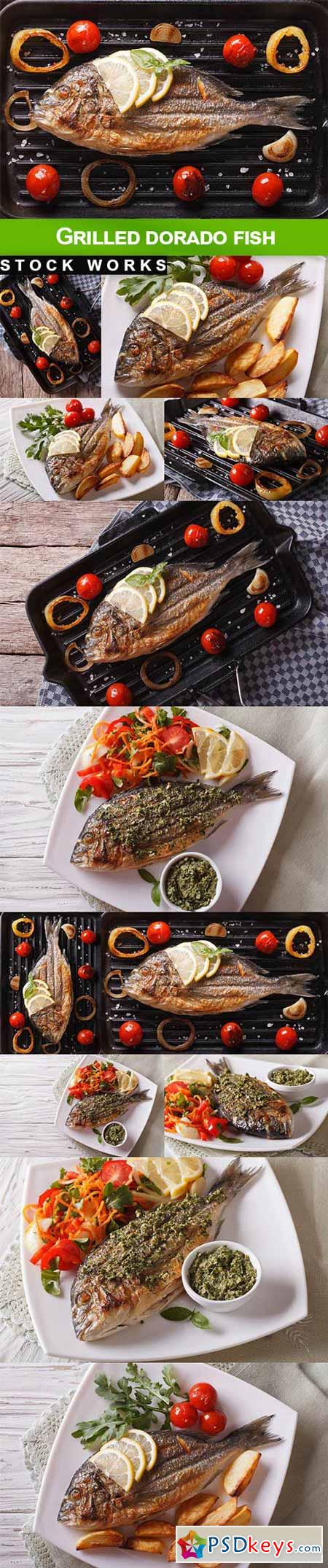 Grilled dorado fish - 12 UHQ JPEG