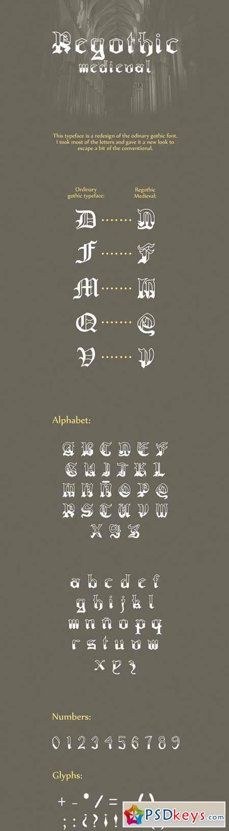 Regothic medieval Typeface