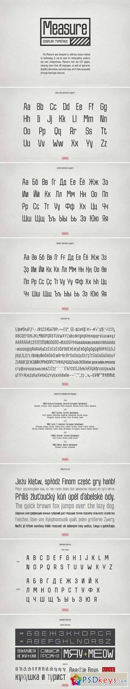 Measure – Display Font