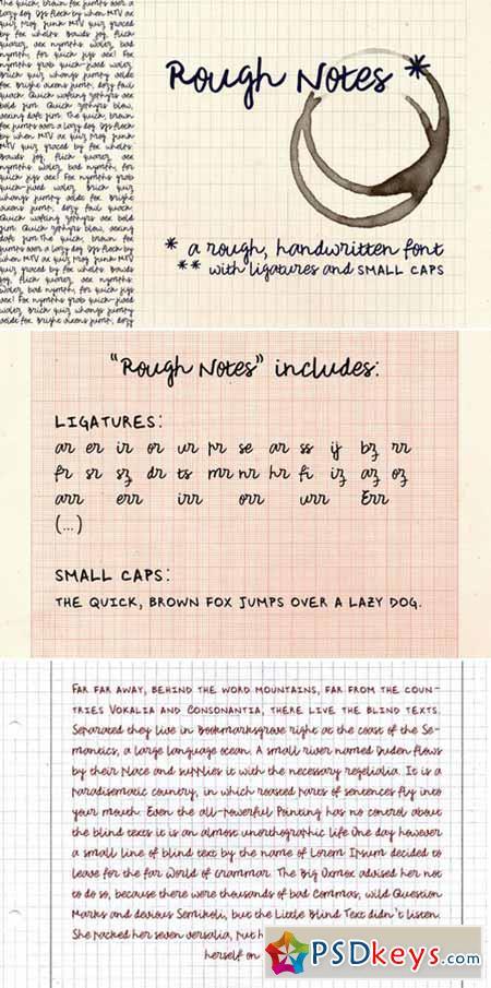 Rough Notes Script Fonts 383490