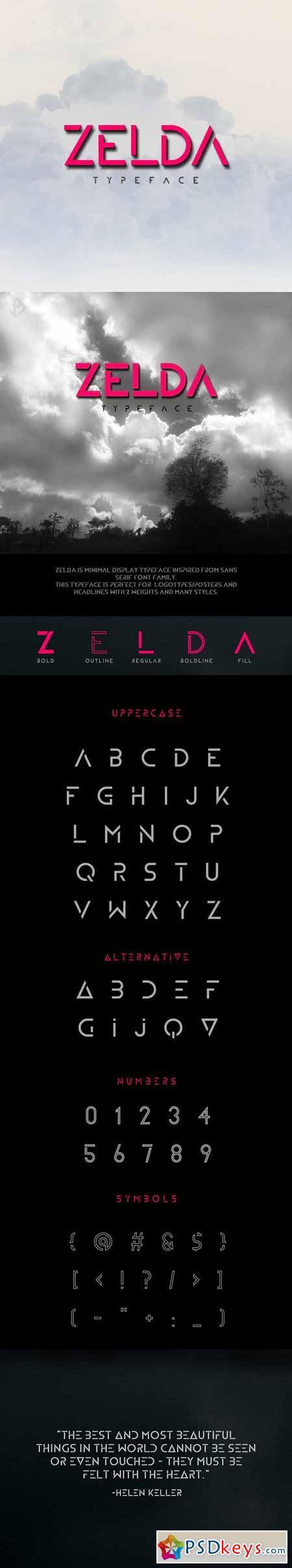 ZELDA Typeface 370240