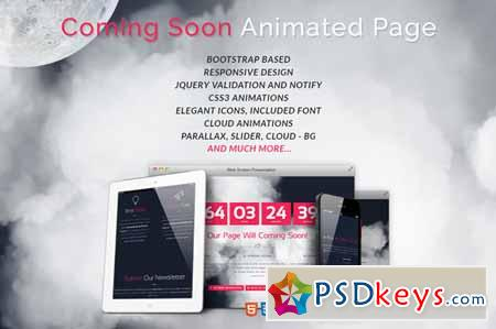 Cloudy Coming Soon Page Template 379991