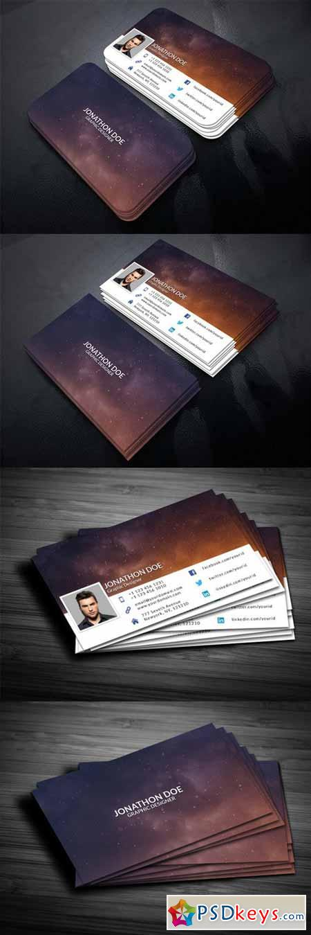 Facebook Timeline Style BusinessCard 380413