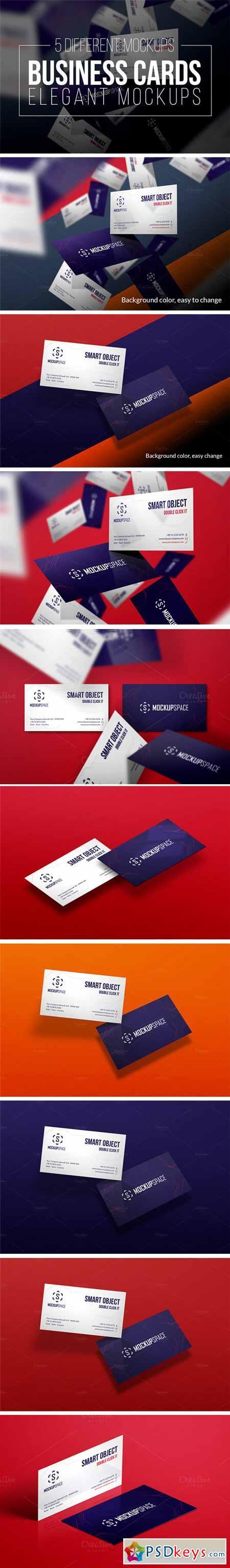 Business Cards - 5 Elegant Mockups 379521