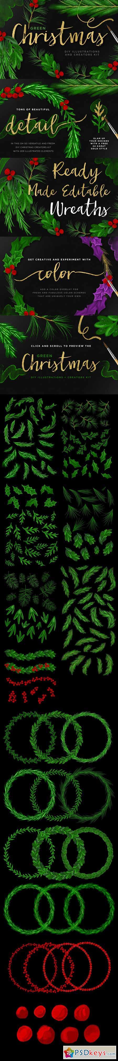 Green Christmas DIY Creator Kit + EU 383582