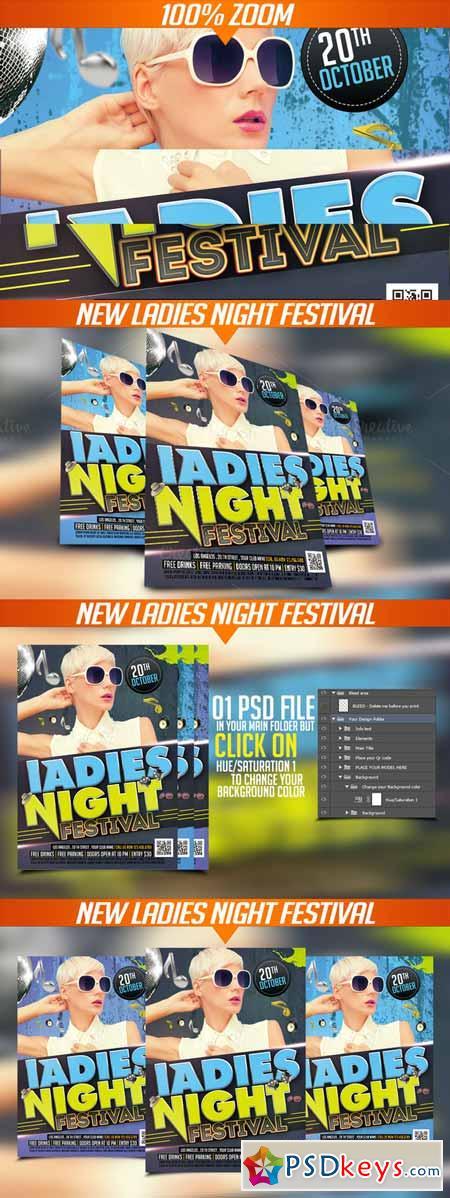 Ladies Night festival flyer 387575
