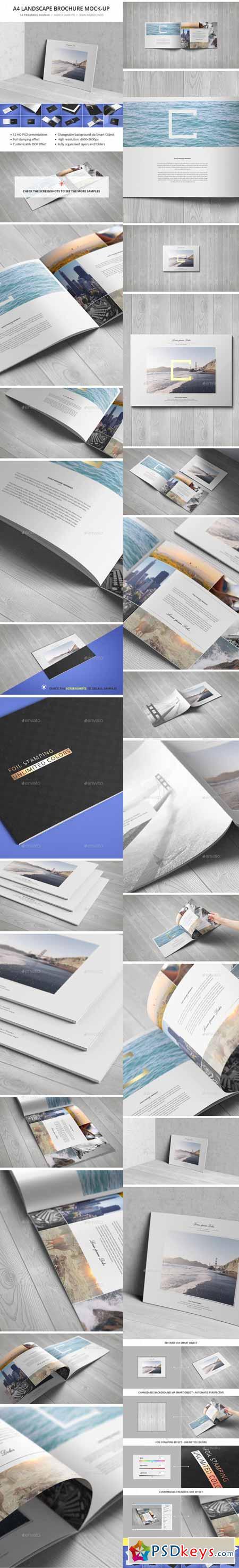 A4 Landscape Brochure Mock-Up 12135636