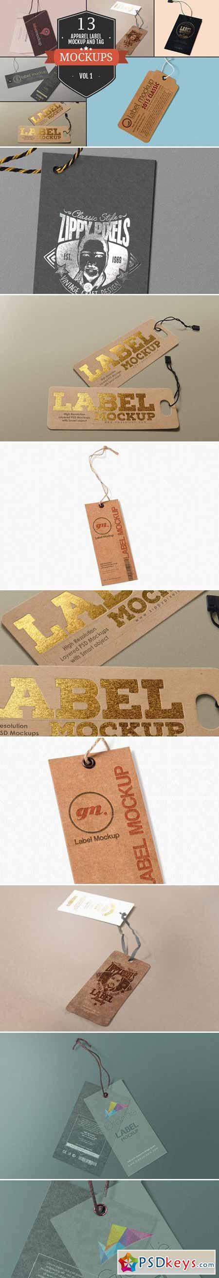 Apparel Label & Tag Mockups Vol. 1 377050