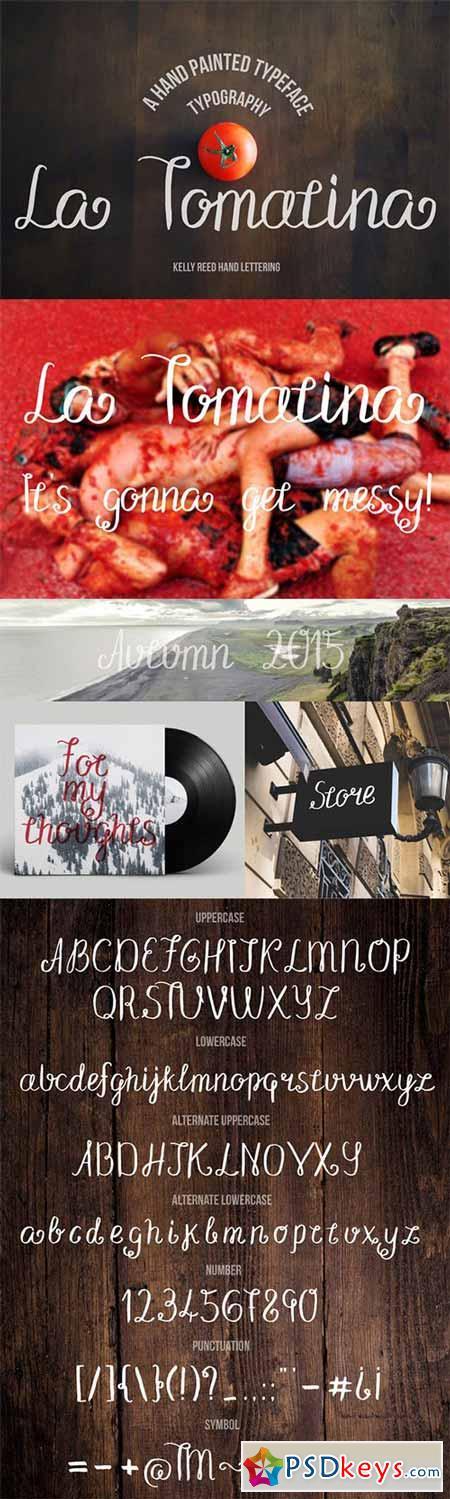 La Tomatina Script Font 323944