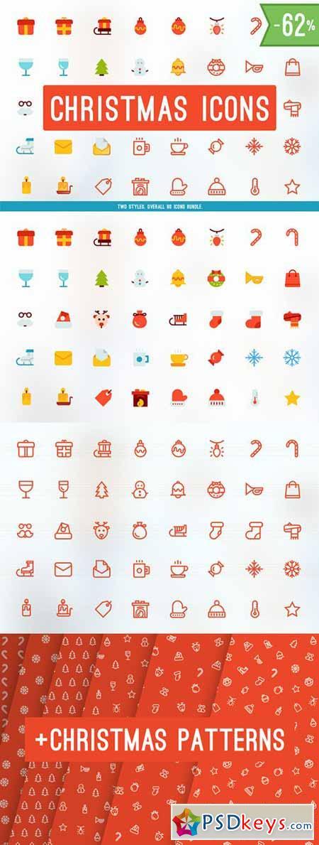 Merry Christmas Icons BUNDLE! 106958