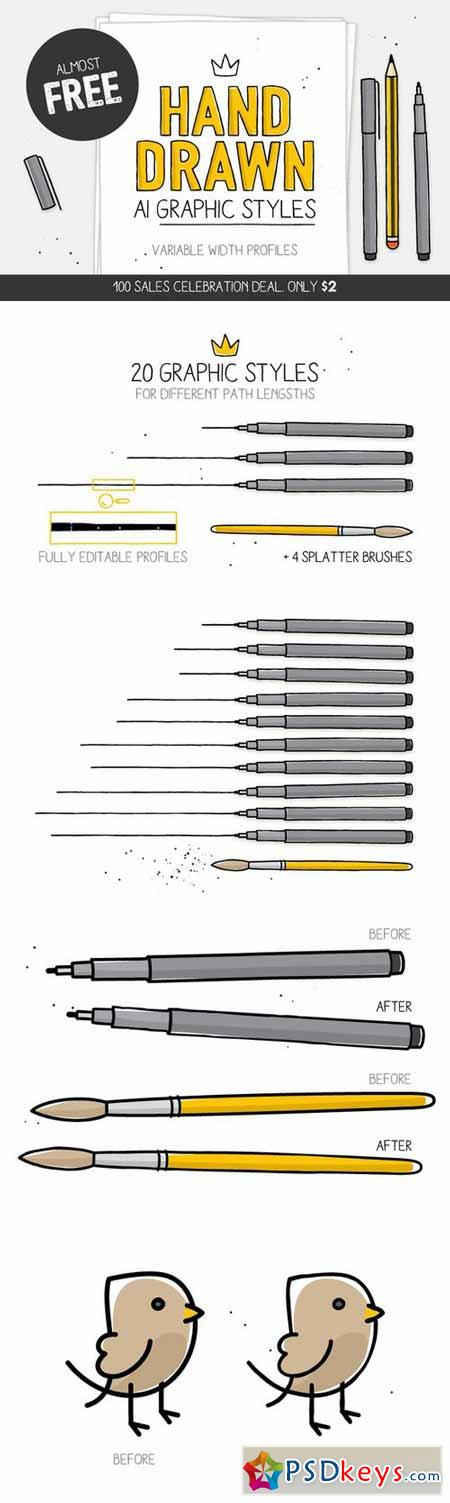 100 SALES DEAL! Styles & brushes 269027