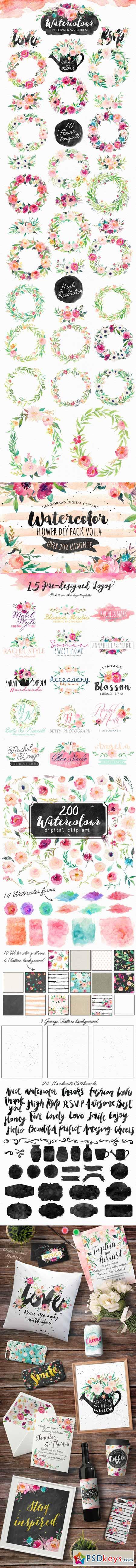 Watercolor DIY pack Vol.4 358935