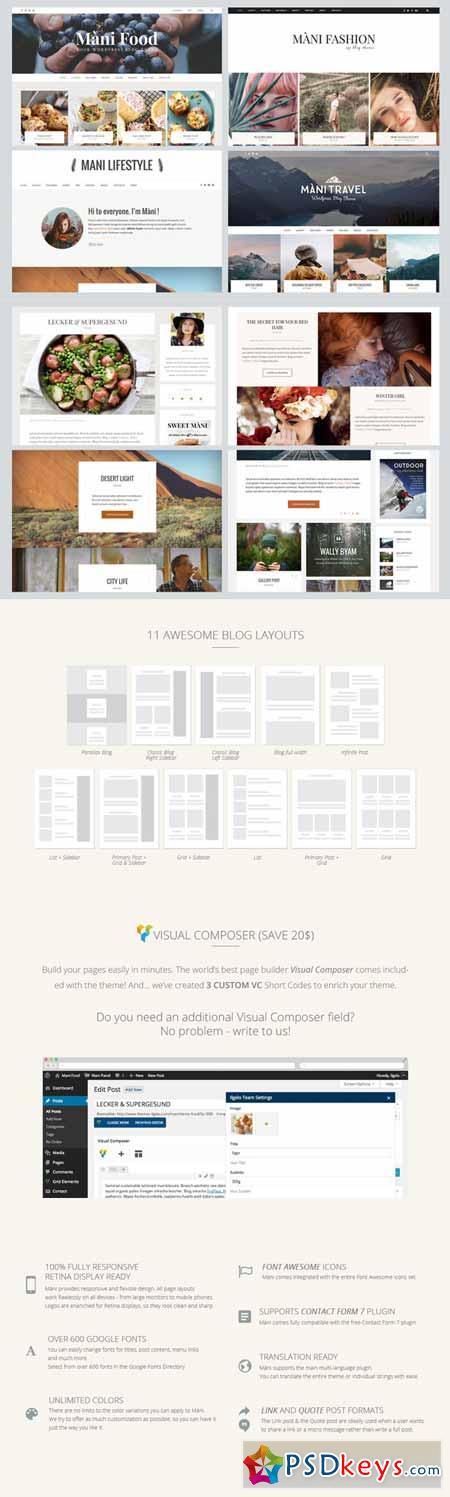 Mani - MultiPurpose Wordpress Blog 257751
