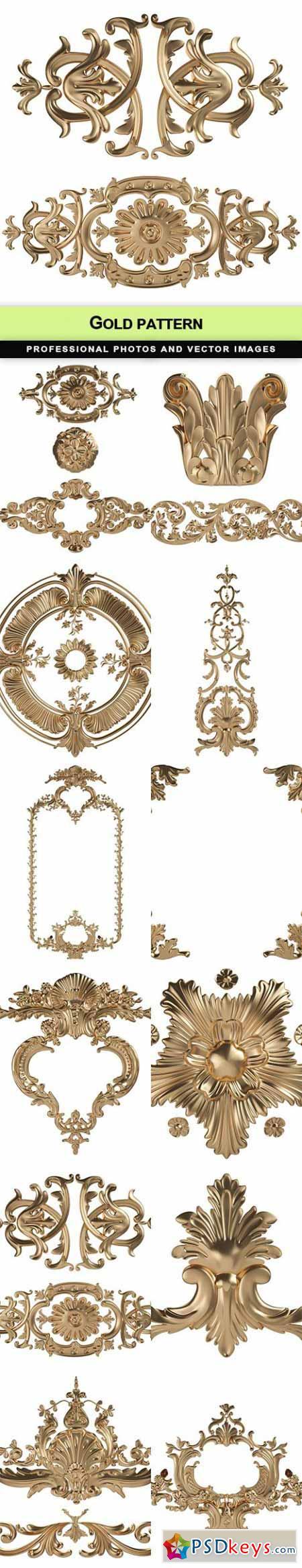 Gold pattern - 12 UHQ JPEG