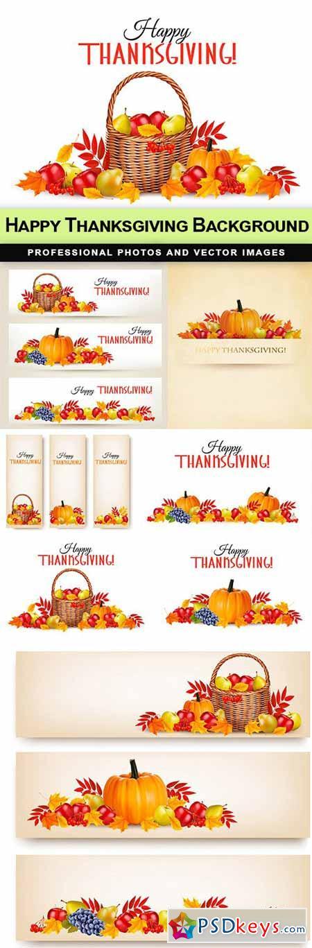 Happy Thanksgiving Background - 7 EPS