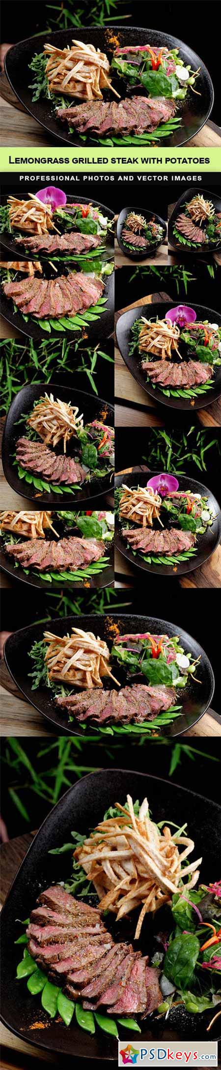 Lemongrass grilled beef steak with potatoes - 10 UHQ JPEG